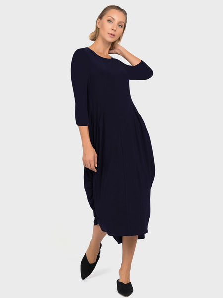 Joseph Ribkoff Navy 3/4 Sleeve Jersey Dress