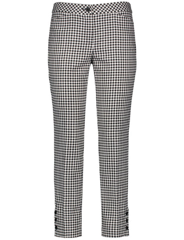 GERRY WEBER Black/white mini check trousers