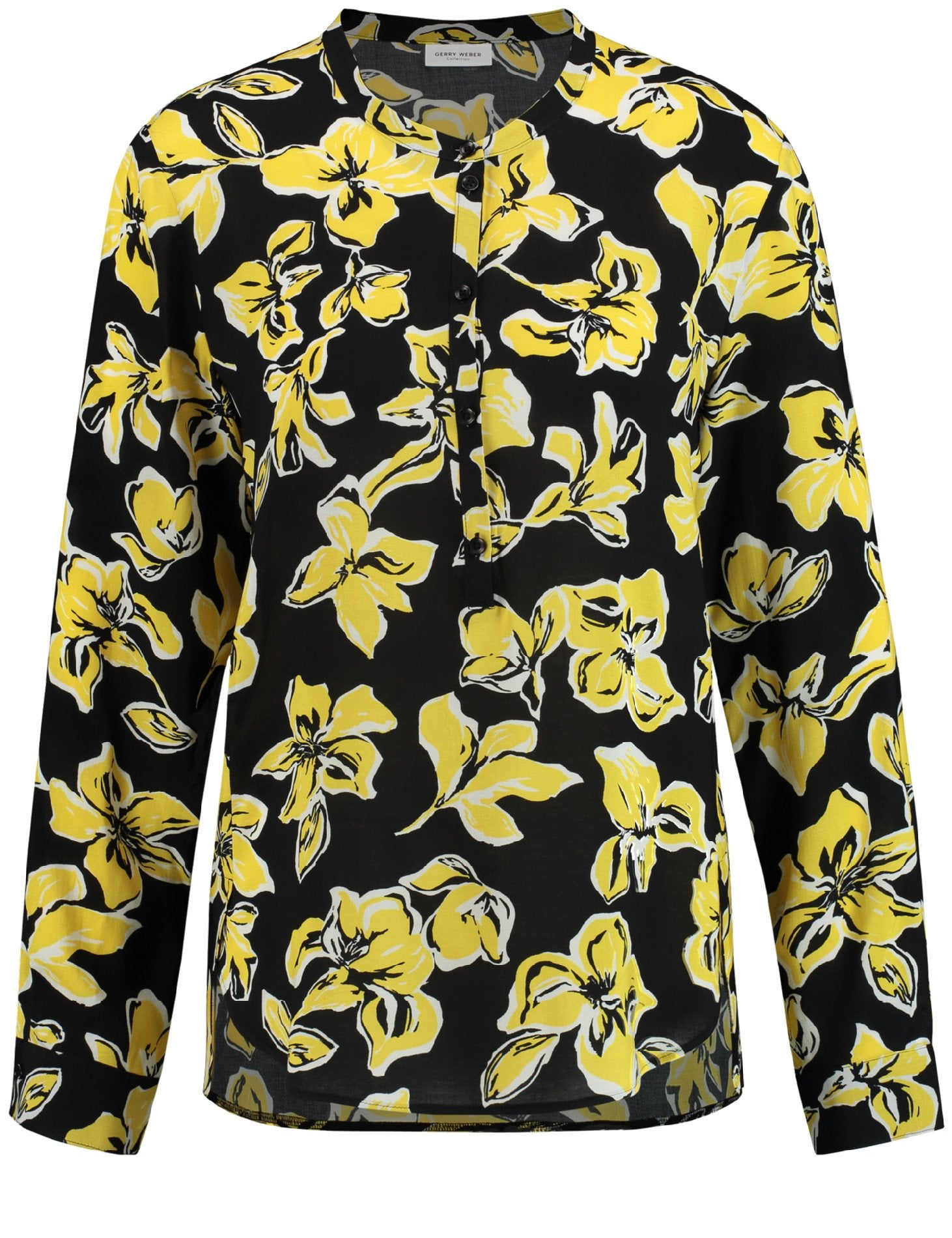 GERRY WEBER Floral print blouse on black ground