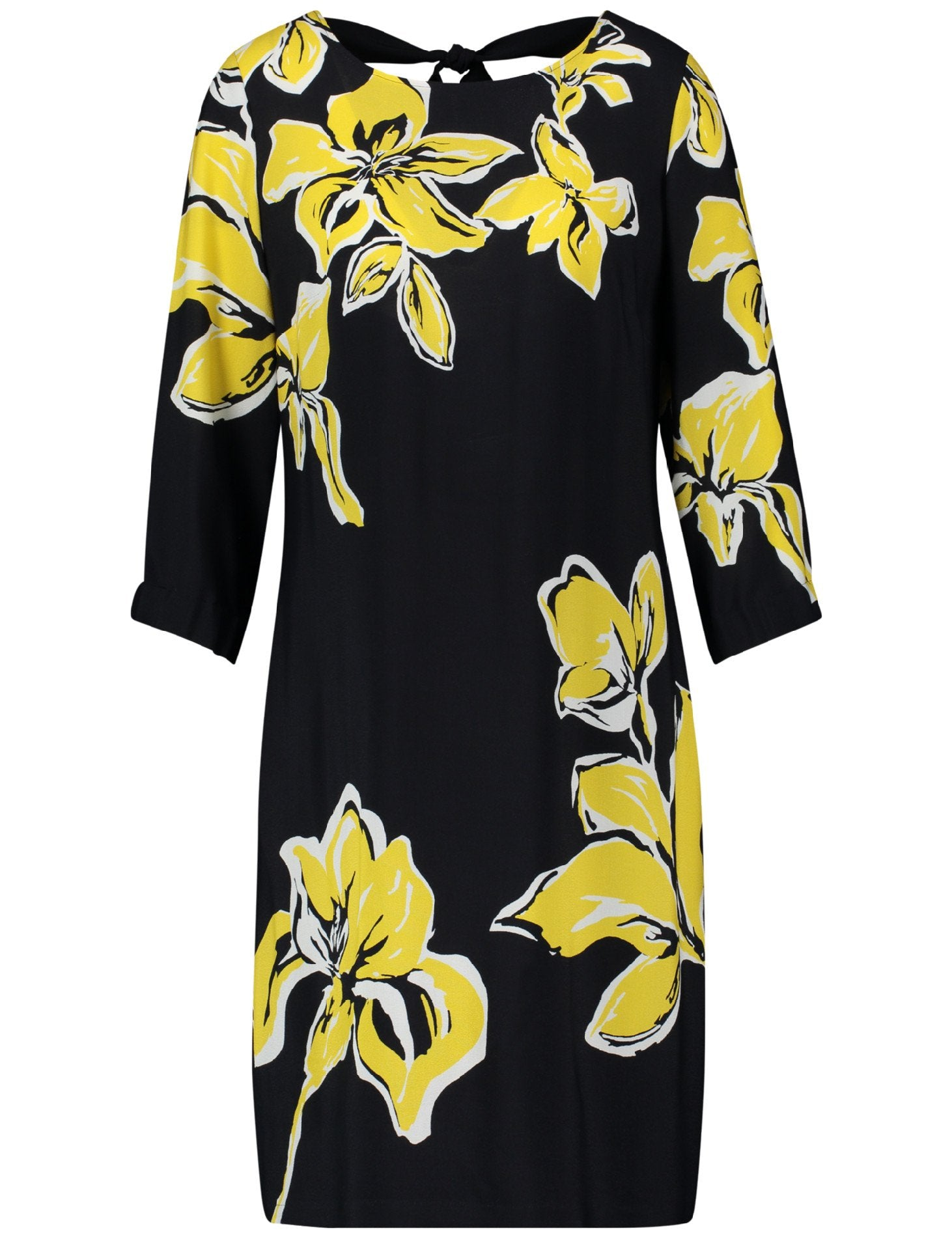 GERRY WEBER Large yellow flower shift dress