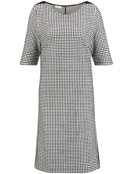 GERRY WEBER Black/White Jersey Check Dress