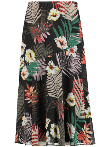 Gerry Weber Blk/Orange Jungle Print Skirt