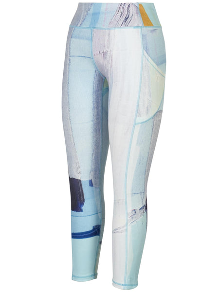 Pale Blue/Grey Abstract Sky Print Leggings