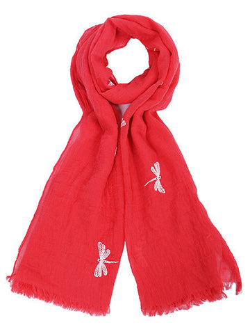 Coral Butterfly Printed Scarf