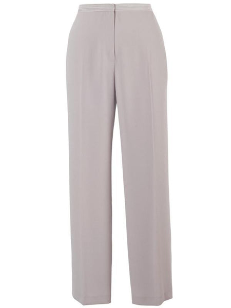Mink Top stitched Waist Satin Back Trouser