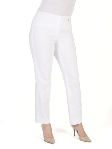 White Slim Stretch Trouser