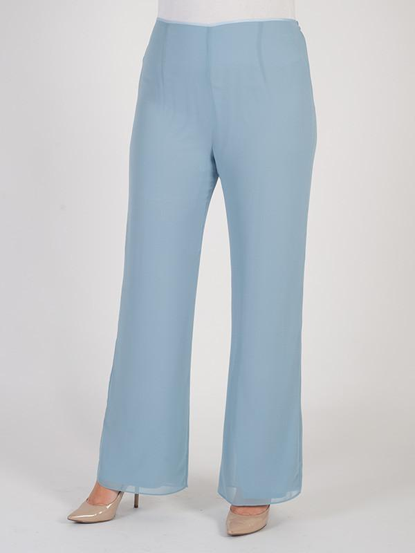 Powder Blue Jersey Lined Chiffon Pant