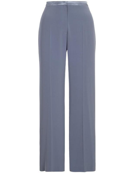 Steel Satin Back Crepe Trouser