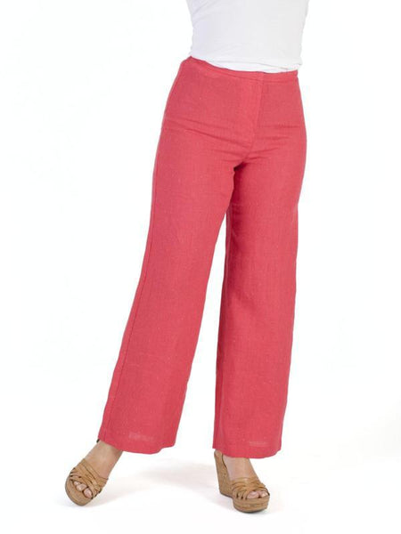 Coral Pinstripe Trouser