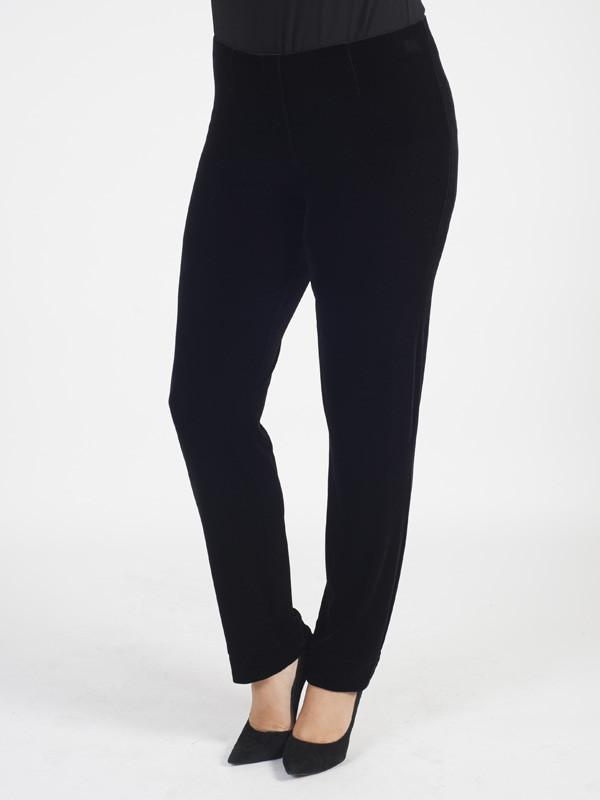 Black Velvet Pull On Stretch Trouser