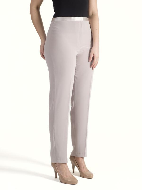 Mink Satin Back Trouser With Slim Line Leg