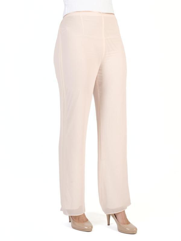 Blush Satin Trim Chiffon Trouser