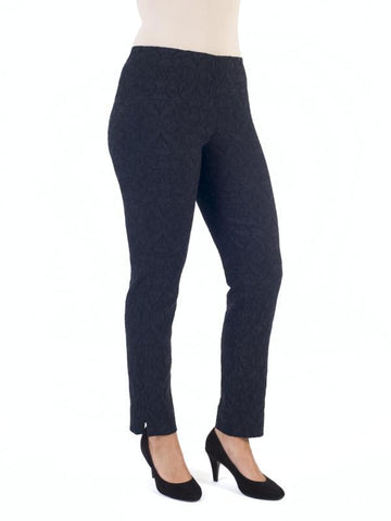 Navy Jacquard Slim Trouser