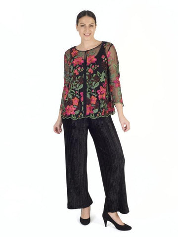 Black Pleated Velvet Trouser