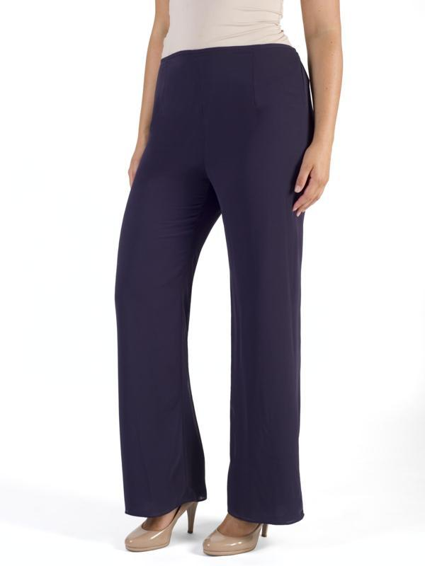 Grape Jersey Lined Chiffon Trouser