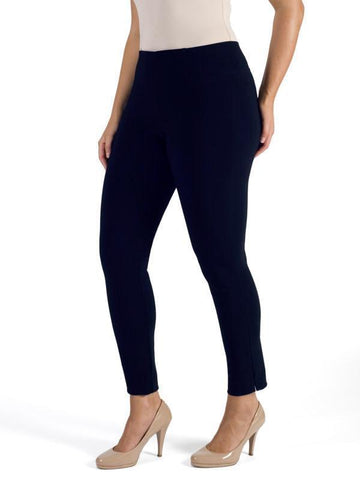 Navy Side Slit Slim line Trouser