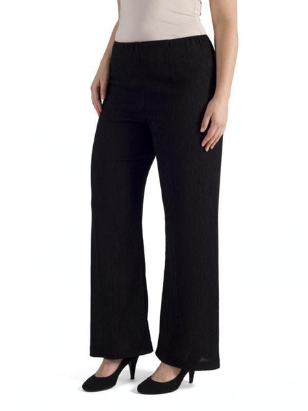 Black Textured Crinkle Trouser