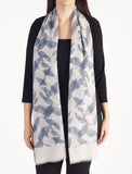 Light Grey Leaf Print Scarf
