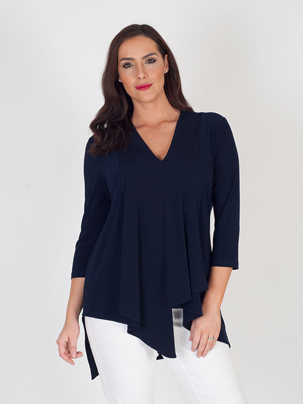 Joseph Ribkoff Midnight Blue Silky Tunic