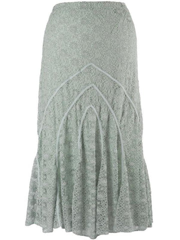 Opal Daisy Stritch Lace Cathedral Detail Skirt