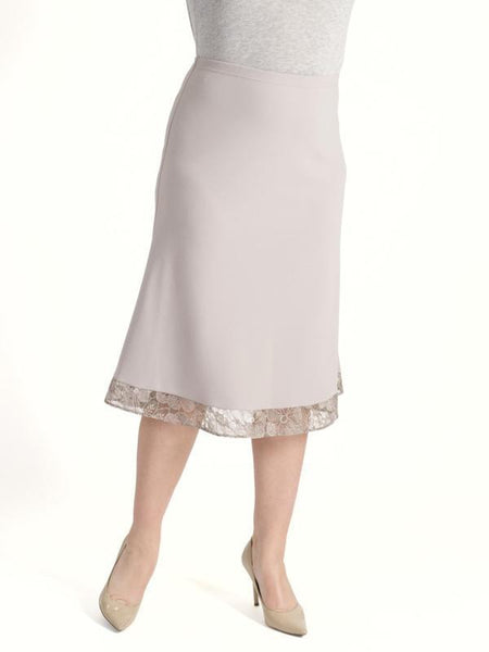 Mink Lace Trim  Crepe Skirt