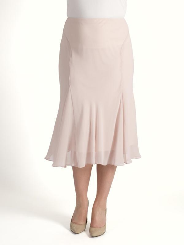Soft peach Chiffon Skirt