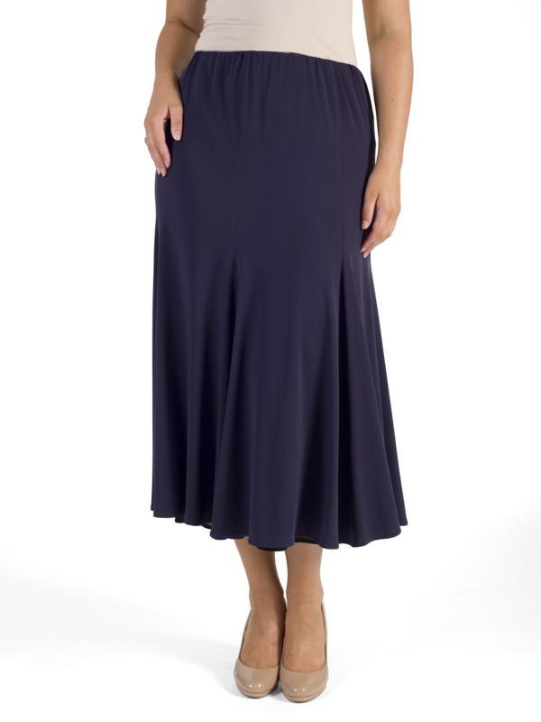 Grape Jersey Lined Jazz Skirt