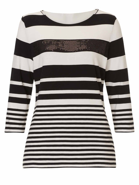 Betty Barclay Sequin Stripe Top