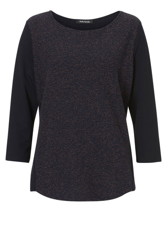 BETTY BARCLAY Textured Sparkle Top
