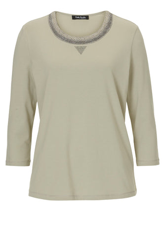 Betty Barclay Jersey Top with Sparkle-knit Neck