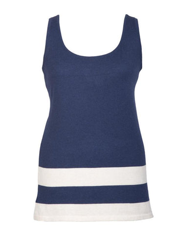 Navy/Ivory Stripe Tripped Vest