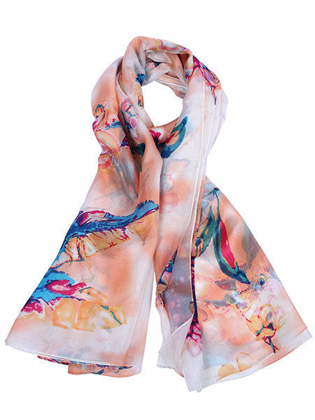 Multi Coloured Floral printed Scarf
