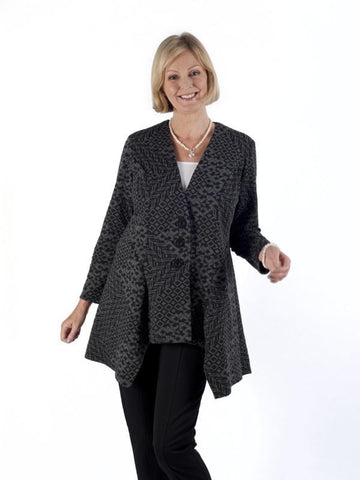 Charcoal Diamond Jacquard Jersey Jacket