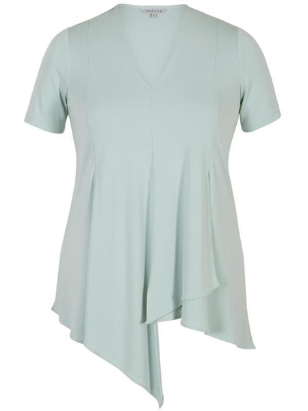 Aqua Asymmetric Layer Jersey Top