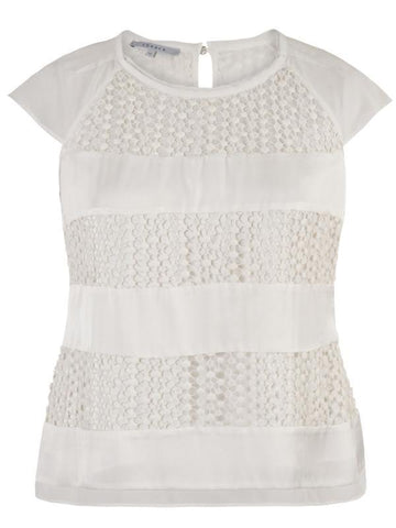 Ivory Ebony Lace & Chiffton Top