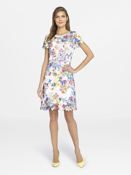 Tahari Floral Lace Dress