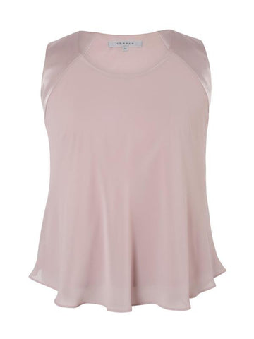 Powder Pink Satin Back Chiffon Cami