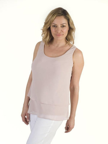 Powder Pink Double Layer Chiffon Cami