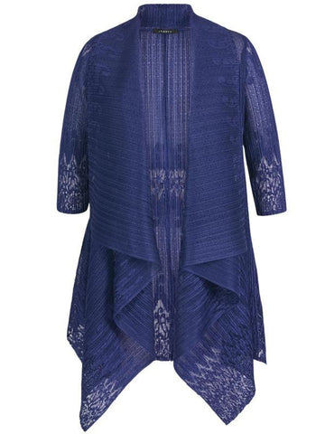 Royal Border Lace Crush Pleat Shrug