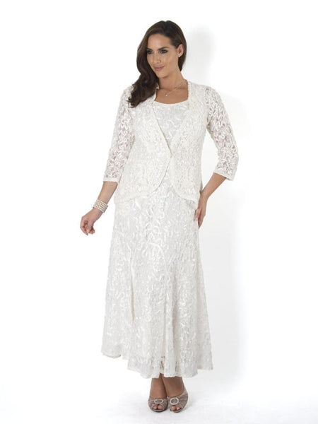 Ivory Lace with Cornelli Embroidered Trim Jacket