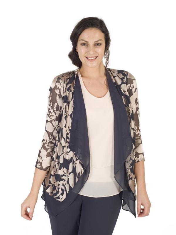 Rose Gold/Pewter Leaf Devoree Double Layer Shrug