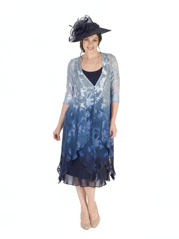 Powder Blue/Navy Ombre Devoree Pixie Coat