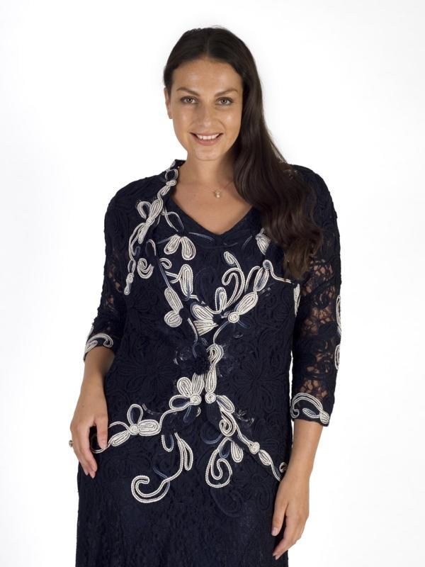 8e624896321a Navy Ivory Ombre Cornelli Emb Lace Jacket – Chesca