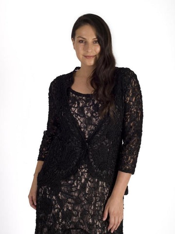 Black Cornelli Emd Lace Jacket