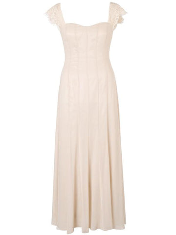 Champagne Chiffon Panel Dress
