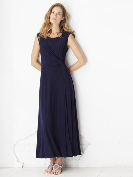 Franchesca Navy Jersey Dress