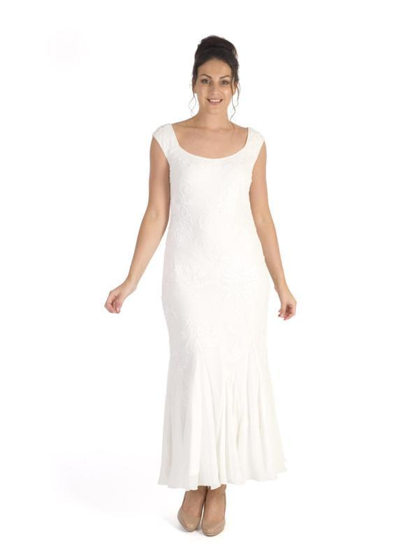 86ae01c9ed9 Ivory Embroidered and Beaded Dress – Chesca
