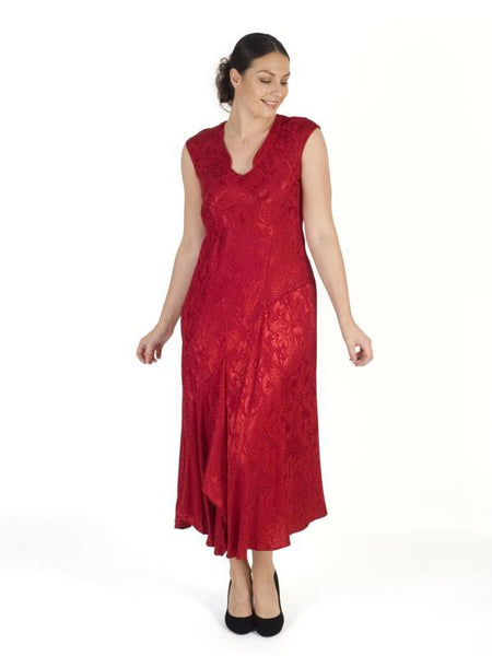 Ruby Satin Back Crepe Jacquard Dress