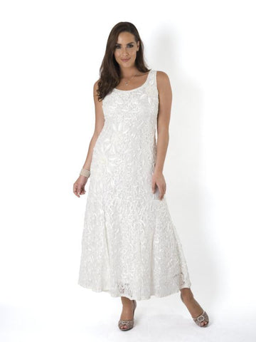 Ivory Lace Cornelli Embroidered Dress