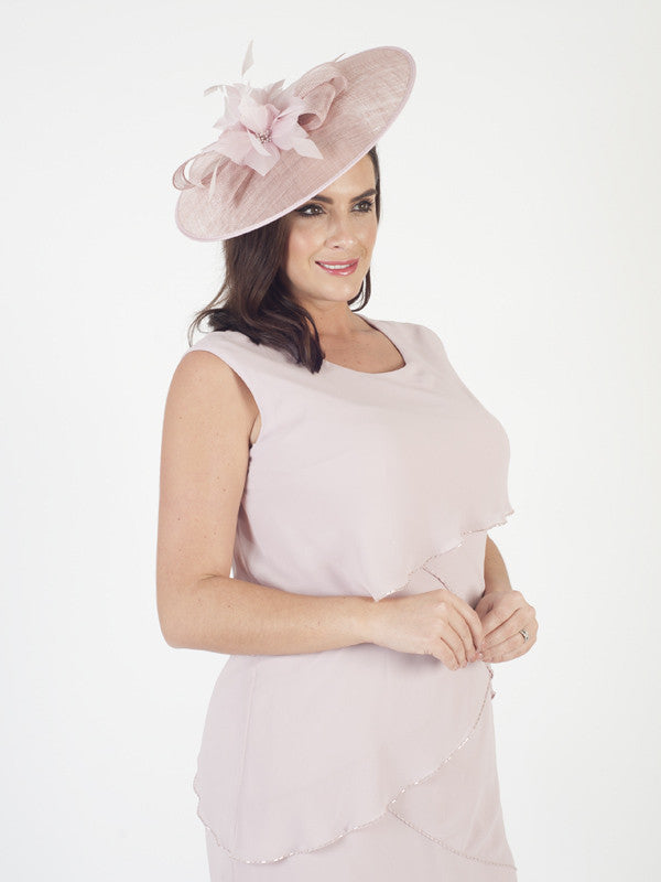 Vintage Pink Sinamay Bow Hatinator (Pre - Order 13th February 2017)